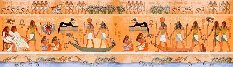 Libros sobre mitología. Imagen de Egipto